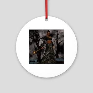 voodoo priestess Round Ornament
