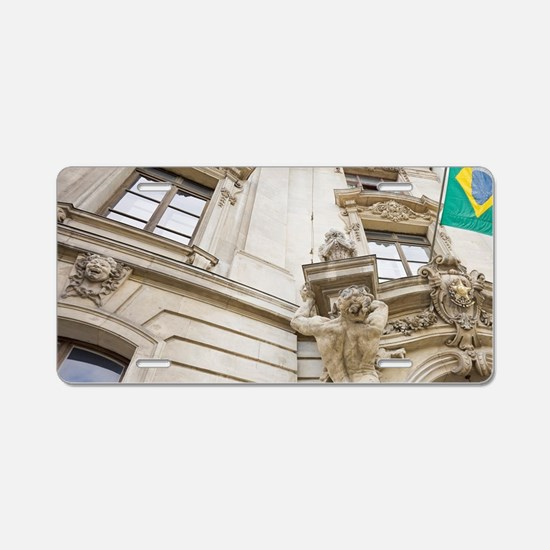 Brazilian Embassy in Vienna Aluminum License Plate