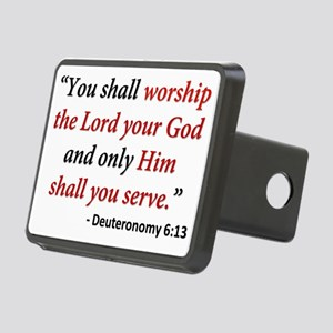 Deuteronomy 6 13 Rectangular Hitch Cover