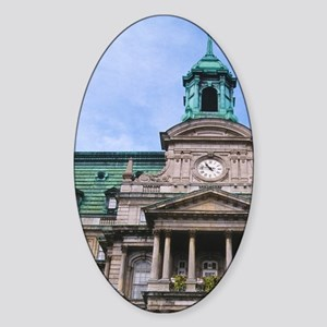 Montreal City Hall (Hotel de Ville) Sticker (Oval)