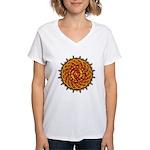 Celtic Knotwork Sun Women's V-Neck T-Shirt