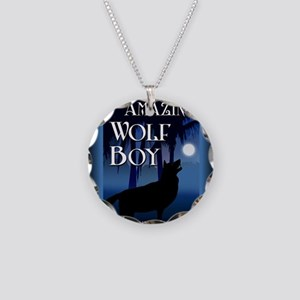 The Amazing Wolf Boy mouse p Necklace Circle Charm