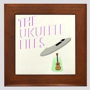 the ukulele files funny uke and ufo al Framed Tile