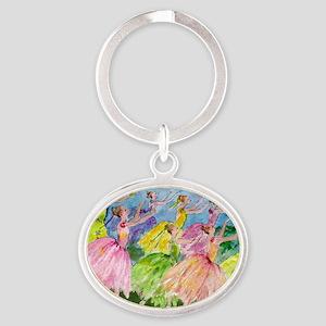 flowerdance1. Oval Keychain