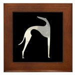 Hound Silhouette Framed Tile