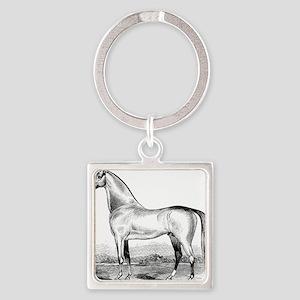 Horse Illustration1 Square Keychain