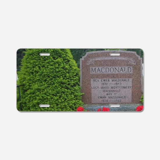 Cavendish. Grave of Lucy Mo Aluminum License Plate