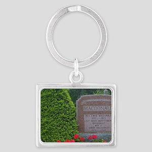 Cavendish. Grave of Lucy Montgo Landscape Keychain