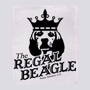 Regal Beagle Throw Blanket