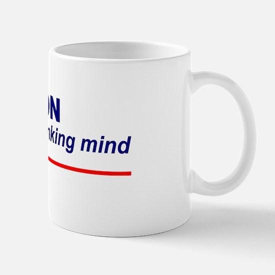 Religion Stops a Thinking Mind Mug