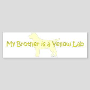 YellowLabBrother Sticker (Bumper)
