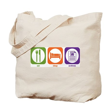 Eat Sleep Archives Tote Bag