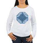 Celtic Diamond (Aqua) Women's Long Sleeve T-Shirt