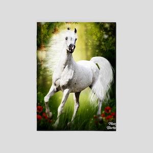 Grey Stallion 5'x7'Area Rug