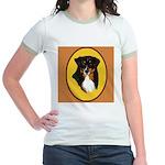Australian Shepherd design Jr. Ringer T-Shirt