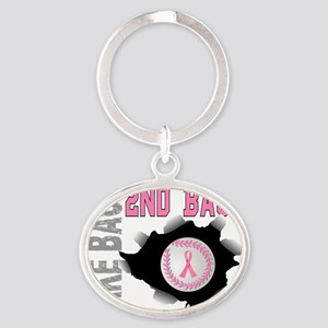 - Take Back Second Base Breast Cance Oval Keychain