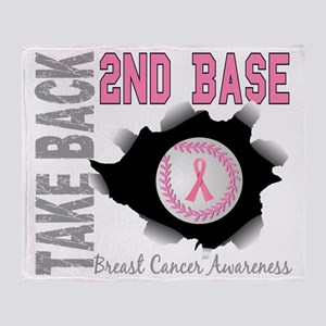 - Take Back Second Base Breast Cance Throw Blanket