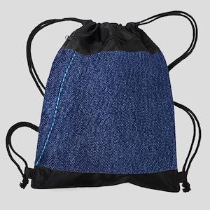 Denim Drawstring Bag