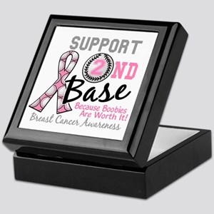 - Support 2nd Base Breast Cancer Keepsake Box