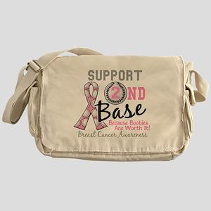- Support 2nd Base Breast Cancer Messenger Bag