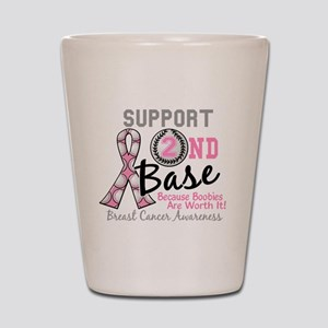 - Support 2nd Base Breast Cancer Shot Glass