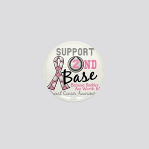 - Support 2nd Base Breast Cancer Mini Button