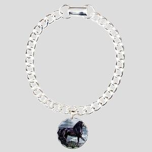 Fresian Charm Bracelet, One Charm