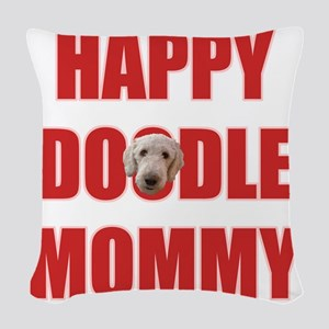 Happy Doodle Mommy Woven Throw Pillow