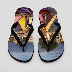 Toy sailboat rentals, Tuileries Garden, Flip Flops