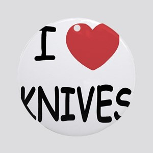 KNIVES Round Ornament