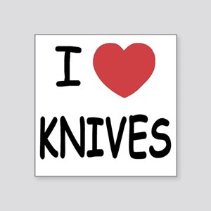 "KNIVES Square Sticker 3"" x 3"""