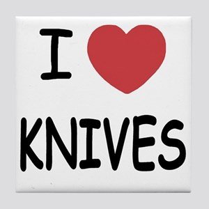 KNIVES Tile Coaster