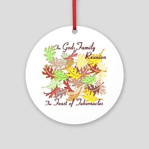 The God Family Reunion10X10 Round Ornament