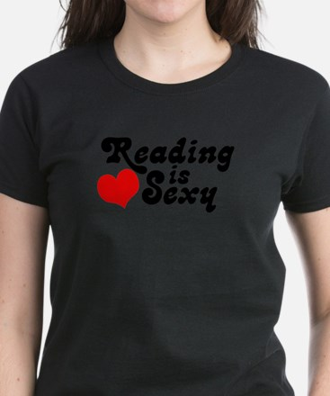 Reading is sexy Women's Dark T-Shirt
