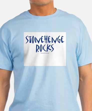 Stonehenge Rocks (Blue) - Blue T-Shirt