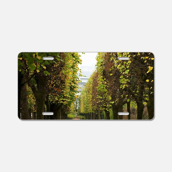 Austria - Bench and tree-li Aluminum License Plate