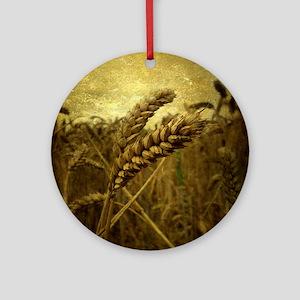 Wheat Field Round Ornament