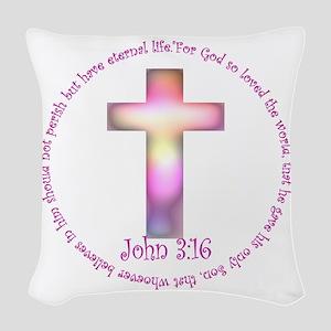 john10 Woven Throw Pillow