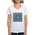 Celtic Eye of the World Women's V-Neck T-Shirt