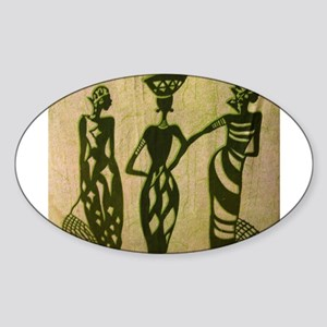 3 Sistas (Green) Oval Sticker