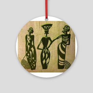 3 Sistas (Green) Ornament (Round)