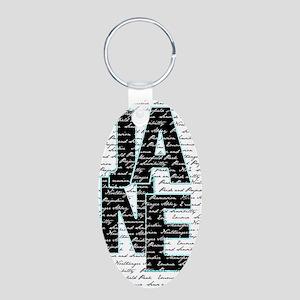 nook_JANE Aluminum Oval Keychain