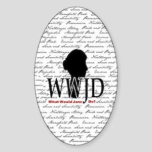 nook_wwjd Sticker (Oval)