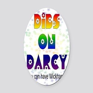 nook_darcy_dibs Oval Car Magnet