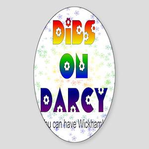 nook_darcy_dibs Sticker (Oval)