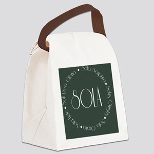 sola13 Canvas Lunch Bag