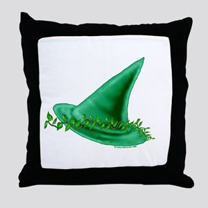 Green Witch  Throw Pillow