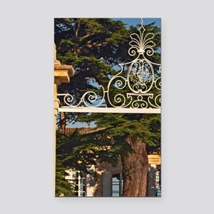 The entrance gate to Chateau  Rectangle Car Magnet