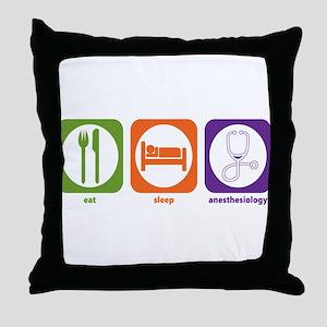 Eat Sleep Anesthesiology Throw Pillow