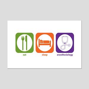 Eat Sleep Anesthesiology Mini Poster Print